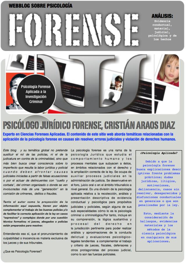 blog de psicologia forense, propiedad de Cristian Araos Diaz