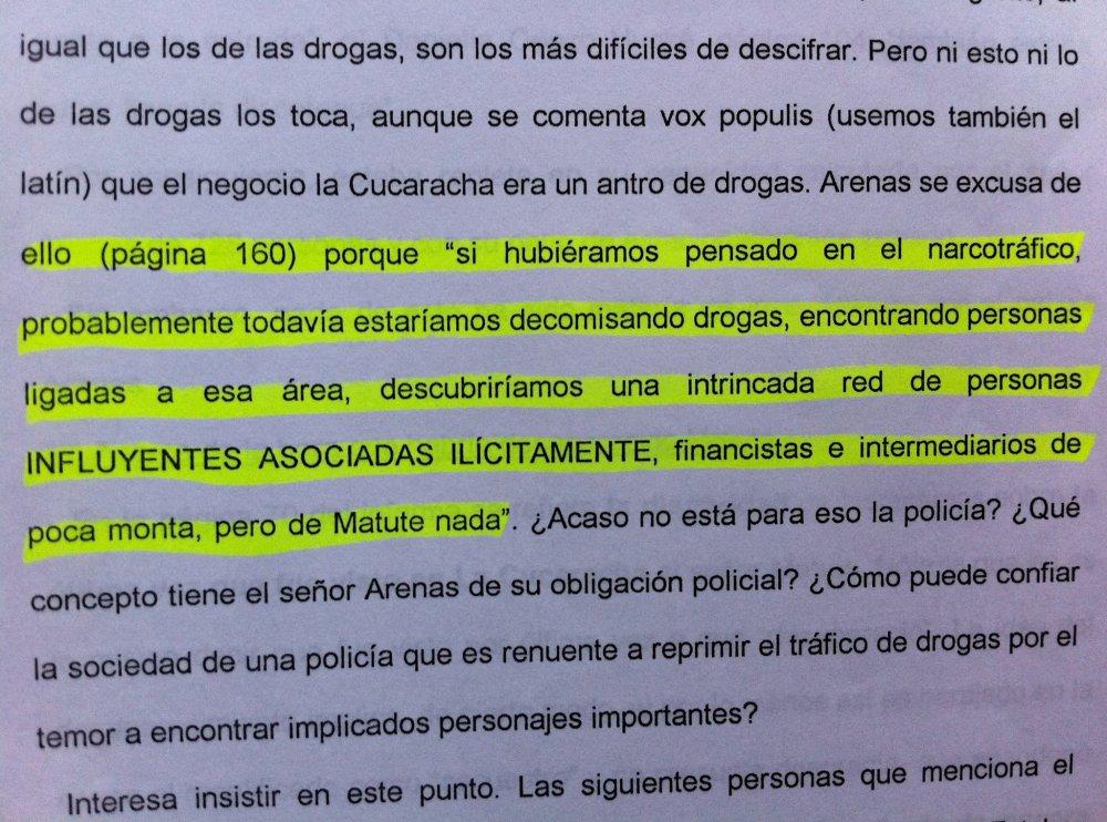 JOSE MIGUEL INSULZA, PRUEBA Y MERITO EN CASO MATUTE. (3/6)