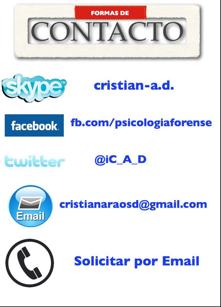 Contacte a Cristián Araos Diaz-psicologia forense y juridica