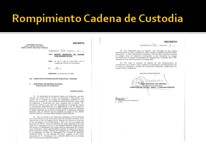 cadena custodia matute johns
