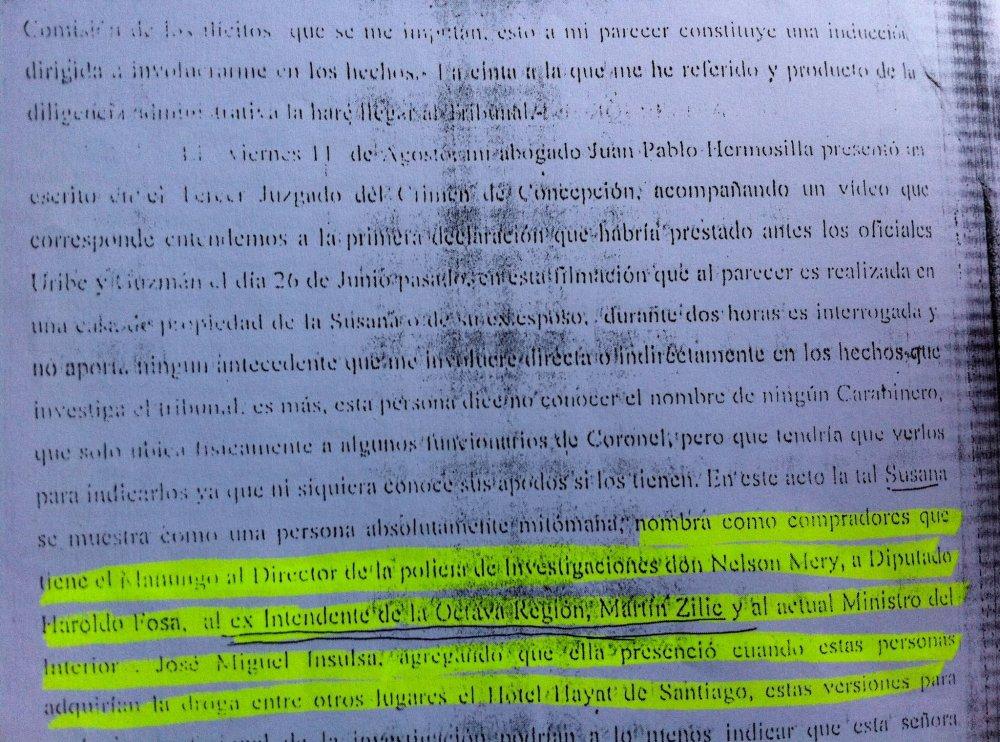JOSE MIGUEL INSULZA, PRUEBA Y MERITO EN CASO MATUTE. (4/6)