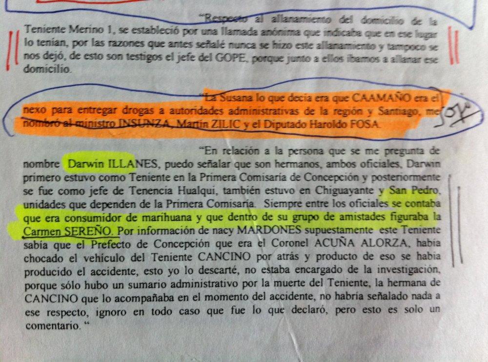 JOSE MIGUEL INSULZA, PRUEBA Y MERITO EN CASO MATUTE. (5/6)