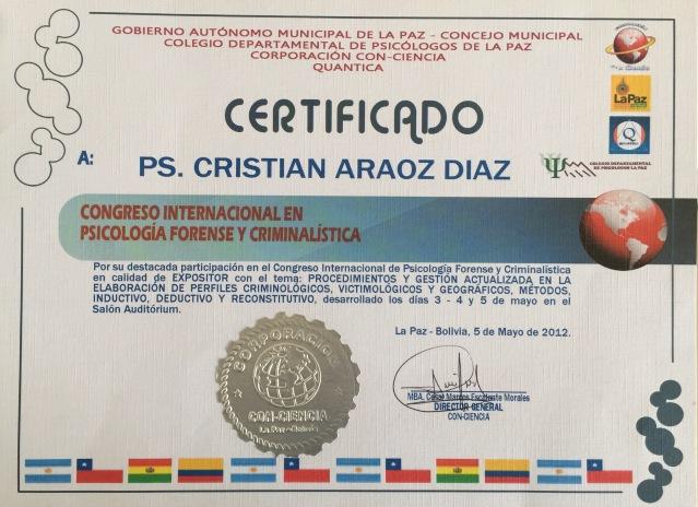 La Paz Bolivia, Cristián Araos Diaz