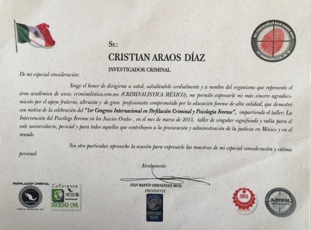 Ciudad de México, Cristián Araos diaz